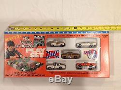 Dukes of Hazzard 5 Die Cast 1/64 Car Playset with General Lee, Cruiser, Jeep etc