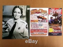 Dukes of Hazzard General Lee Deputy Daisy Duke Shirt withBadge Autographs + MORE