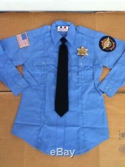 Dukes of Hazzard General Lee Deputy Daisy Uniform Shirt withBadge + Figure & Pic