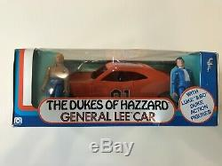 Dukes of Hazzard Mego #09060 General Lee Car withBo and Luke figures NIB Very Nice