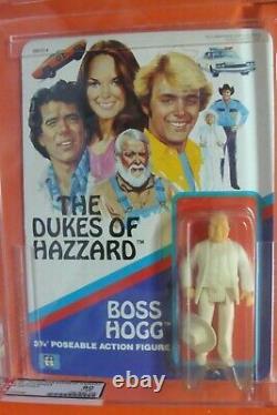 Dukes of Hazzard Trafalgar Boss Hogg AFA 80Y RARE Action Figure Mego 1982 Luke