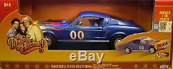 ERTL 118 SCALE DIECAST METAL DUKES OF HAZZARD COOTER'S #00 BLUE 1968 MUSTANG