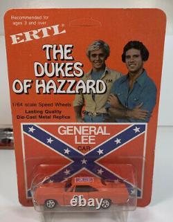 ERTL Dukes Of Hazzard 1/64 General Lee Car Original Blister UNPUNCHED CARD 1981