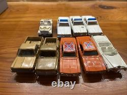 ERTL THE DUKES OF HAZZARD 2 General Lee, 2 Cooters Truck, Daisy Jeep, BOSS HOG+