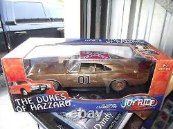 Ertl 1/18 RARE 1-8 Gold plated dukes of hazzard general lee dirty charger NIB