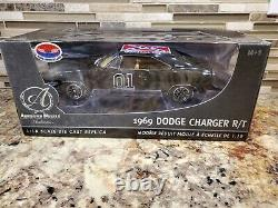 Ertl Collectibles Black Chase 1969 Dodge Charger R/T 118 Die Cast General Lee