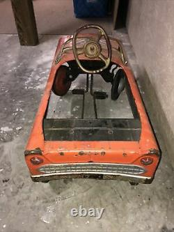FULL SIZE Murray RIDE ON PEDAL CAR, Dukes Of Hazard Painted. 1960s Works. GUC