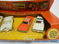 Four Car SET 1981 ERTL 1969 Dodge Charger General Lee Dukes Of Hazard Car