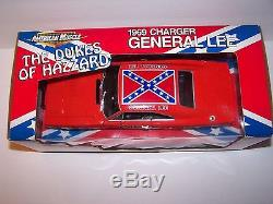 General Lee Dukes of Hazzard Ertl American Muscle 118 1969 Dodge Charger