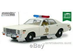 Greenlight 118 1977 Plymouth Fury dukes of Hazzard County Sheriff rosco Diecast