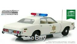 Greenlight 118 1977 Plymouth Fury dukes of Hazzard County Sheriff rosco Diecast