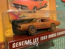 HO Slot Car Dukes Of Hazzard General Lee & Roscoe's Cruiser Dirty Auto World MIP