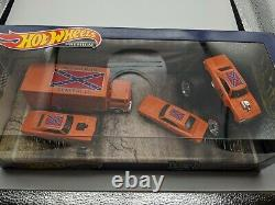 Hot Wheels Custom Dukes of Hazzard General Lee Team Transport Charger 4 Car Set