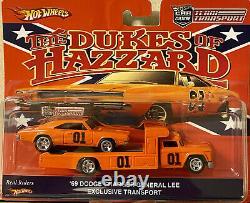 Hot Wheels Team Transport Dukes Hazzard 69 Dodge Charger General Lee & Retro Rig
