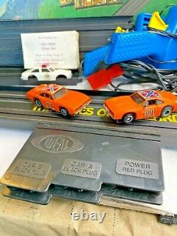 IDEAL Dukes of Hazzard SLOT CAR SET with TWO General LEES