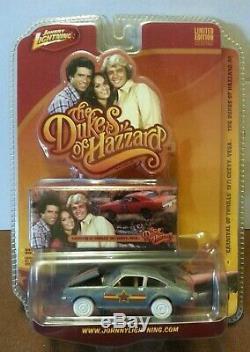 Johnny Lightning Raw White Lightning Dukes of Hazzard 1971 Chevy Vega RARE HTF