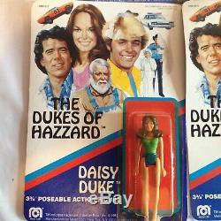 MEGO SET 1981 DUKES OF HAZZARD 3 3/4 Inch ACTION FIGURES Daisy Rosco Cletus Boss