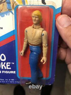 Mego 1981 Dukes of Hazard Bo Duke MOC HTF RARE UNPUNCHED Action Figure Withcase
