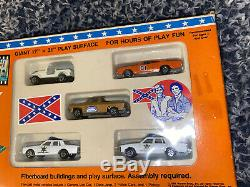 NEW Rare ERTL The Dukes Of Hazzard Play Set General Lee Cooters Truck Daisy Jeep