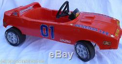 RARE- 1982 Vintage- Dukes of Hazzard -General Lee- Coleco Pedal Car- 44 long