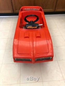 RARE Vintage 1980s Dukes of Hazzard General Lee Coleco toy kids Pedal Car