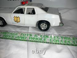 RARE Vintage Mego Dukes of Hazzard County Sheriff Police Car + Rosco Figure