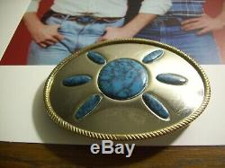 Rare Vintage Dukes Of Hazzard Bo Duke 1979-85 Style Turquoise Belt Buckle