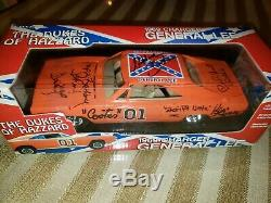 SIGNED BY CASTDukes of Hazzard 1969 ERTL General Lee Charger in box (read dsc)