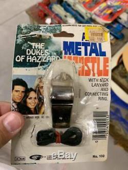 Set NOC Dukes of Hazzard 1981 Metal Whistle ON Card TV Toys Rebel RARE RARE