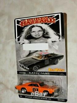 Set of 4 HOT WHEELS CUSTOM id 69 dodge charger GENERAL LEE THE DUKES OF HAZZARD