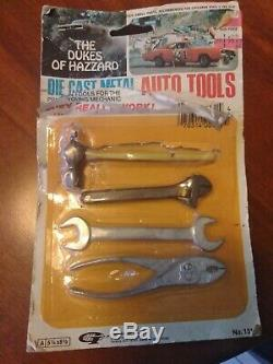 The Dukes of Hazzard 1981 Die Cast Metal Auto Tools Set