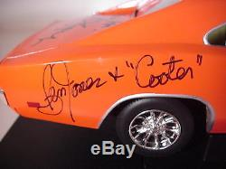 The Dukes of Hazzard Cast Autographed Classic 118 General Lee Die-Cast Car