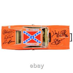The Dukes of Hazzard Cast Autographed Die-Cast 118 General Lee