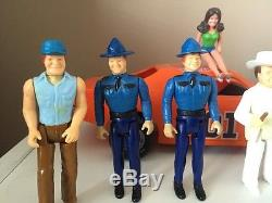 VINTAGE 1980 Mego DUKES OF HAZZARD General Lee Complete Figure Set Of 8 Look! WOW