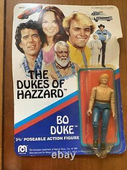 VINTAGE 1980 Mego Dukes of Hazzard General Lee BO LUKE DAISY MOC NEW Plus