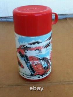 VINTAGE 1981 Aladdin Dukes of Hazzard General Lee Plastic Lunchbox & Thermos