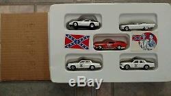 VINTAGE 1981 THE DUKES OF HAZZARD PLAY SET With 5 DIECAST 1/64 TOY CARS IN BOX