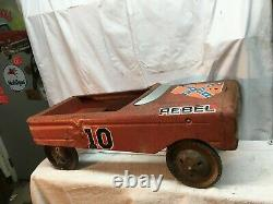 Vintage 1979 AMF Metal Pedal Car Dukes Of Hazzard Rebel Charger NO 10