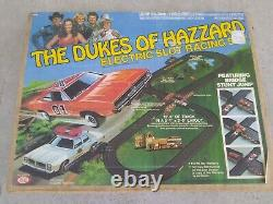 Vintage 1981 Ideal The Dukes Of Hazzard Electric Slot Racing Set With Box RARE
