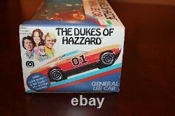Vintage 1981 MEGO Dukes of Hazzard General Lee Car with Bo & Luke Duke MIB sealed