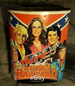Vintage 1981 The Dukes Of Hazzard Metal Garbage Can Original