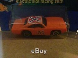 Vintage Ideal 1981 Dukes of Hazzard slot cars NIP general lee autoworld jl afx