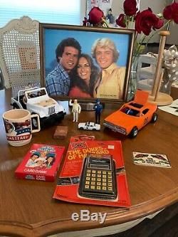 Vintage The Duke Of Hazzard Lot, 7 Figures, General Lee, Daisy Jeep, & Lots More