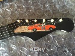 Vtg 1981 Dukes of Hazzard Toy Guitar Black Face Emenee In Shipper box Warner Bro