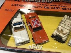 Vtg 1981 ERTL The Dukes of Hazzard General Lee Daisy Jeep 1/64 Car Set NICE! NOS